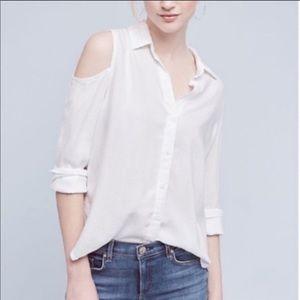 New Cloth & Stone Regan Open-Shoulder Buttondown